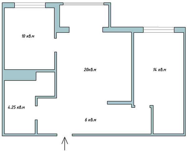 Планировка квартиры для ремонта под ключ в Одессе